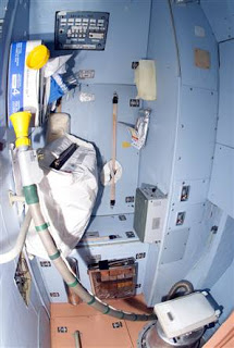 Space station toilet