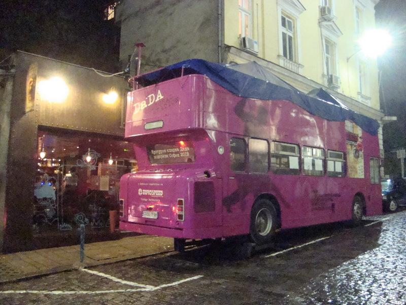 Pink bus!
