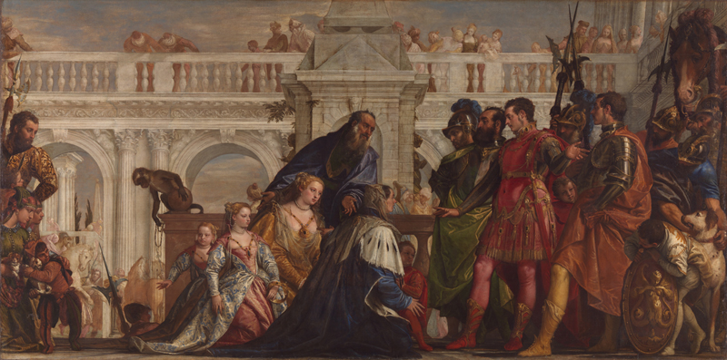 Paolo Veronese, 1528 - 1588 The Family of Darius before Alexander 1565-7 Oil on canvas, 236.2 x 474.9 cm Bought, 1857 NG294 http://www.nationalgallery.org.uk/paintings/NG294